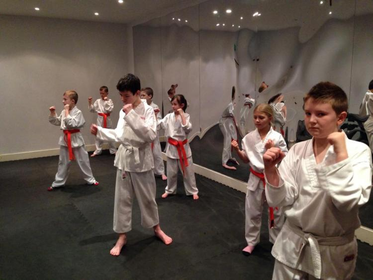 Kids martial arts class with BMMA