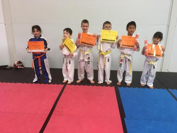 Awarding new belts