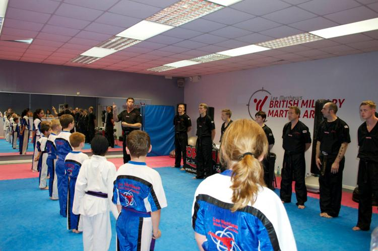 Martial arts class with BMMA